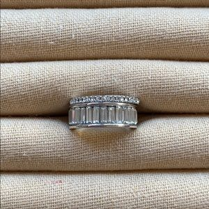 Chloe + Isabel Baguette + Stone Stackable Rings